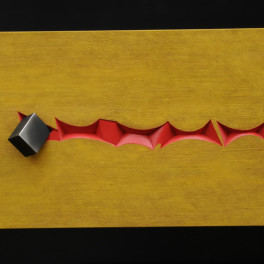 PERCORSO COSMICO, LEGNO E BRONZO, 2010, cm 100 x 160