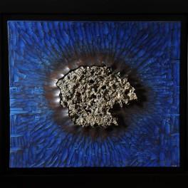 ESPLOSIONE SOTTOMARINA, LEGNO E BRONZO, 2011, cm 120 x 140