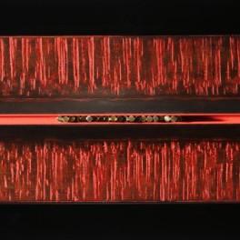 ENERGIA COSMICA, LEGNO E BRONZO, 2009, cm 34 x 60