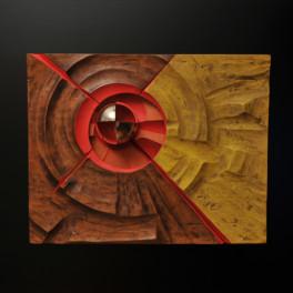 ENERGIA CIRCOLARE, LEGNO E BRONZO, 2012, cm 72 x 85