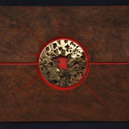 ESPLOSIONE COSMICA, LEGNO E BRONZO, 2012, cm 77 x92