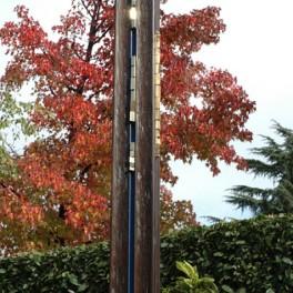 PERCORSO COSMICO, LEGNO E BRONZO, 2007, h. cm 180 image