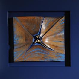 VULCANO SOTTOMARINO, LEGNO E BRONZO, 2009, cm 78 x 76