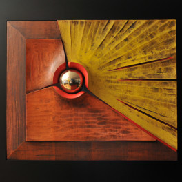 ENERGIA EMERGENTE, LEGNO E BRONZO, 2012, cm 78 x 90