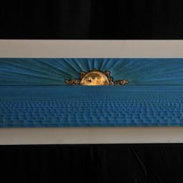 SUNSET, LEGNO E BRONZO, 2012, cm 222 x 76